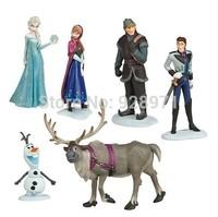 Best sale frozen princess dolls Frozen Figure Play Set Anna Elsa Hans Kristoff Sven Olaf 6pcs set classic toys high quality