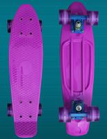 "Pink Penny Style Skateboard 22"" Complete original Retro Cruiser Backpack mini longboard girl boy skate fish long board"