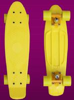 "DIY Pastel Penny Style Skateboard Complete 22"" Boy Girl Retro Cruiser Backpack mini longboard skate fish long board , Sky Blue"