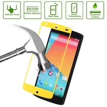 Factory price Link Dream Tempered Glass Film Spare Parts Protector for LG Nexus 5 Spare Parts(Yellow)