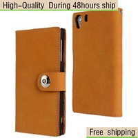 Matte First Layer Cow Leather Case For Sony Xperia Z1 L39H Free Shipping