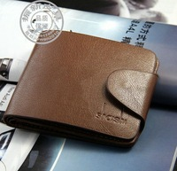 Fashion Casual Genuine Leather Cowskin Wallets For Men Short Style Malesolid Money Clips carteira masculina  10pcs/pack