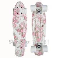 "1pcs New 22"" Printed penny board penny skateboard Complete Retro girl boy Cruiser mini longboard skate fish long board"