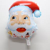 10pcs/lot Santa Claus helium ballons cartoon mylar balloon , Christmas party decoration foil balao