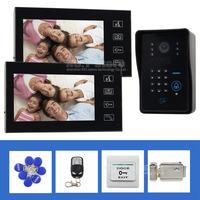 Electric LocK Remote Control Touch Key 7 inch Video Door Phone Door Bell IR Camera RFID Reader Password Keypad Intercom System