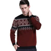 Amur Men's Wool Sweater Jumper Warm O-neck collar Pullovers Winter Knitwear England Style
