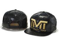 2014 new fashion black Alligator leather baseball snapback hats and caps for men/women sports hip hop mens womens winter sun cap