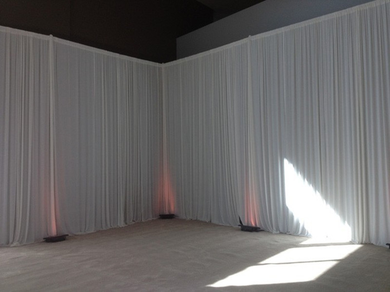 3m x 6m white curtain lining Backdrop party wedding backdrop drapes curtain(China (Mainland))