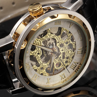 SEWOR Luxury Brand Male Clock White Dial Skeleton Watches Men Casual Wristwatches Leather Strap Men Mechanical Watch / PMW297