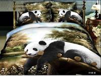black white green animal Panda horse lion leopard tiger Cotton queen size Duvet / Quilt Cover Bedding sets sheet pillowcase