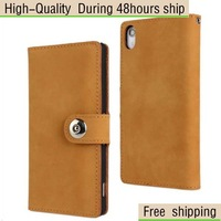 Matte First Layer Cow Leather Case For Sony Xperia Z2 D6503 Free Shipping
