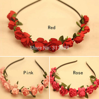 A6 Womens Floral Headband Bohemia Hair Band Flower Headwrap Garland for Celebrity Wedding Bridal Party Beach H6555 P