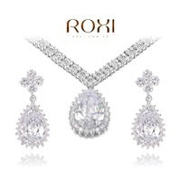 ROXI Luxury CZ Crytal jewelry sets,platinum with AAA zircons,fashion party Jewelry,best Christmas gifts AN