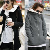 C Women's Fleece Long Slim Winter Warm Cotton Coat Hooded Jacket Sweater Parka Outwear Overcoat Xmas Gift Free Shipping Hot Sell