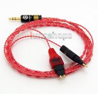 130cm Red Custom 6N OCC Hifi Cable For Sennheiser HD414 SL HD420 SL HD425 HD430 HD440 HD442 HD450 II HD480 Classi LN004605