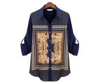 2 Color New Classic Chiffon  Women Blouses Fashion Summer Shirts Blusas Femininas 2014 XZX19096