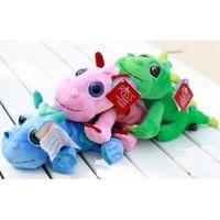 Colorful Cartoon Style Stuffed Plush Dragon Toy Car Decoration-3 Colors