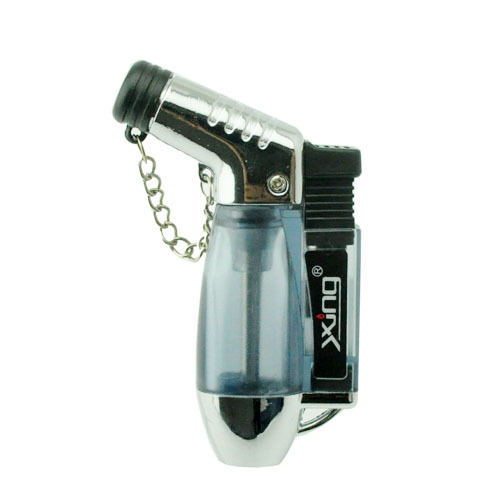 Cheap Jet Flame Lighter Windproof Angle Refillable Torch Cigar Lighter with Flame Cap --Empty Bottle Only(China (Mainland))