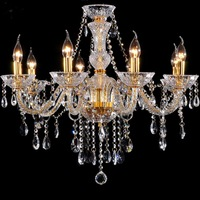 Chandelier 8 light Modern fashion gold crystal lamp crystal chandelier light fashion crystal chandelier lighting