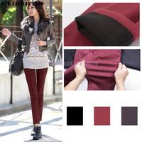 2014 NEW Fashion Casual Plus Size Full Length Velvet Thicken Leggings Women's Pants Slim Thin Pencil Trousers For Women 2053
