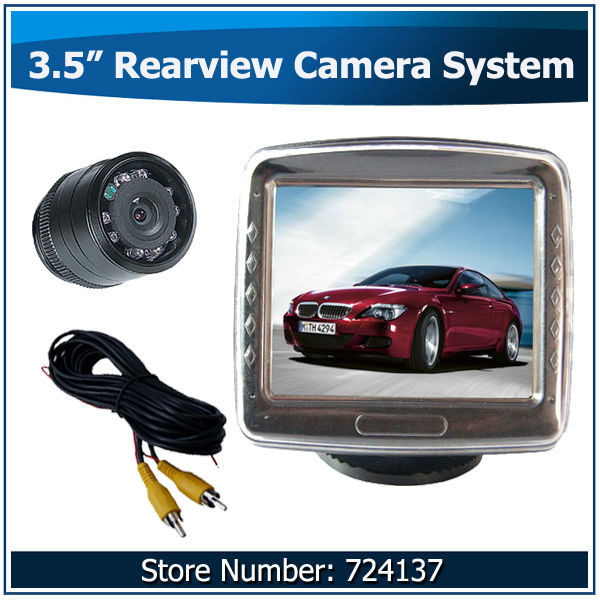 "Automobile Security System Service with 3.5"" Security monitoring and Backup night Vision Camera(China (Mainland))"