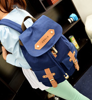 2014 Fashion canvas women backpack &shoulder bags Letter Printing Style Casual Backpack travel backpacks four color package