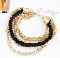 2014 New Arrival One Direction Pulseiras Femininas Pulseira Masculina Fashion Luxury Braided Multilayer Bracelet Bangle Jewelry