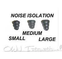 Triple Flange Replacement Eartips buds gels black color  inner size 3.5MM  large, medium small size