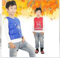Retail Child Outerwear, baby clothing Winter High quality children cotton vest Kids parka vest warm coat WCJ-023