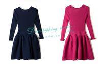 Slim Knitted Tutu Dress Long-sleeved Wool Dress Autumn Dress Free Shipping