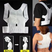 Magnetic Therapy Posture Back Shoulder Corrector Support Brace Belt V3NF