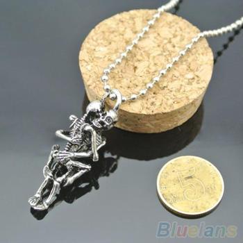 Мужчины женщины бесконечность любовь ожерелье посеребренные пара черепа Hug цепи ...