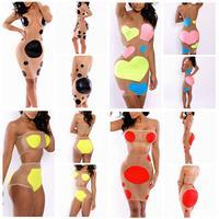 2014 Women Vestidos De Renda Swimsuit Swimwear Sexy High Waist Bikini Bandage Push Up Beachwear Monokini Swimsuit Bikinis Set