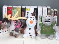 Olaf the Snowman SVEN Reindeer Caribo Kristoff Friend Rock People Trolls plush doll toys 25-33cm
