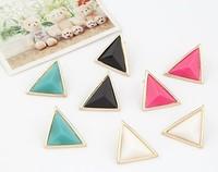 2014 Sale New Pendientes Earrings For Women Brinco Fashion Triangular Earrings Personality Temperament Stud Earring Jewelry