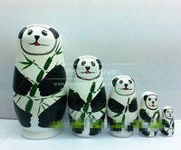 5pcs/set  Matryoshka Doll Russian Doll Cute Chinese Panda Doll Christmas gifts Birthday  presents J-0746