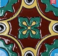 Take archaize brick hand-painted floret brick