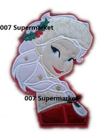 "7"" Frozen Christmas Queen Elsa in red Princess Snow Queen Film TV MOVIE x'mas Cartoon Embroideried Patch Logo Badge"