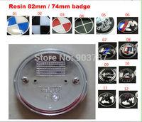 Mix 500pcs resin 82mm / 74mm M alpina AC skull emblem front  bonnet / rear boot trunk badge for E30 E36 E46 3 5 7 SERIES M3 M5