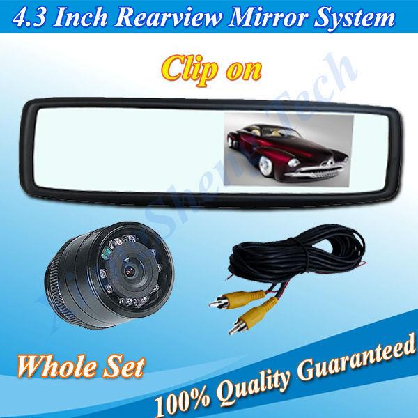 Car Security Backup Monitor Camera System with 4.3 inch TFT LCD Monitor and Rear Cameras Night Vision(China (Mainland))