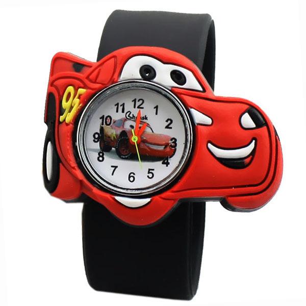 Cute Cartoon Car 3D Child Watches, Christmas Gift Cartoon watch Quartz Childrens Watches(China (Mainland))