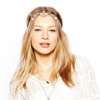 Fashion Flower Hair Crown Headband Head Crown Pink Crystal Hair Jewelry Head Chain CF089 coupon