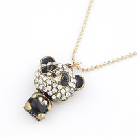 Jewelry Direct Selling Sale Christmas Gift Collar 2014 Teddy Bear Long Necklace For Women Fashion Jewelry Wholesale