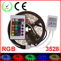 RGB LED Strip 5M 300Led 3528 SMD 60 led/m 24 Key IR Remote Controller Flexible Light Led Tape Home Decoration Lamps DC 12V
