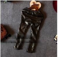 RQQ  children's clothing wholesale leather pants with velvet Leggings X7002 slim Christmas