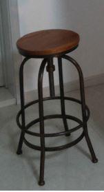 americano país para fazer a madeira velha ferro cadeira barstool tamborete de barra, tamborete(China (Mainland))