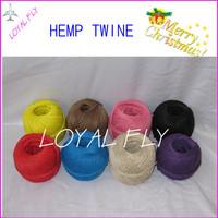12pcs/lot 12 color hemp twine/cords twisted hemp twine,hemp string, cord