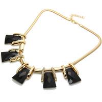Vintage Women's Stylish Formal Black Gem Crystal Collar Statement Necklace for CX196 coupon