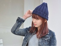 2014 hot sell Men and women fashion candy cap Couples ice cream knitted hat Multicolor wholesale