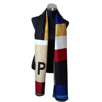 Op fashion scarf color block decoration plaid ladies ruslana korshunova cloak blanket cloak thickening cape